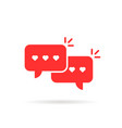 red love messages with speech bubble vector image vector image