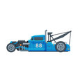 retro style race car old sports blue vehicle vector image vector image