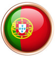 round badge for portugal flag vector image vector image