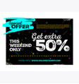 sale poster design vector image
