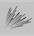 set of isolated speed lines the effect of vector image vector image