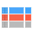 shipping freight container colored intermodal vector image