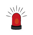 siren alert warming system danger icon vector image