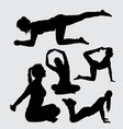 sport female people silhouette vector image vector image
