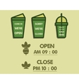 Summer fresh smoothie cafe signs concept Open and vector image vector image