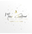 the black inscription christmas and magic light vector image vector image