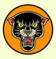 tiger black old scholl tattoo vector image