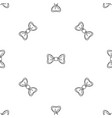 trendy bow tie pattern seamless vector image
