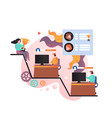 video games concept for web banner website vector image vector image