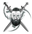 viking sword black vector image vector image