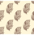 Vintage seamless pattern with original hand drawn vector image vector image