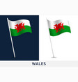 wales flag waving national flag wales isolated vector image