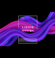wave color background liquid flow paint 3d vector image