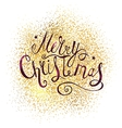 Xmas Greeting Card with Lettering vector image vector image