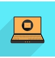 yellow and black laptop with mail icon vector image