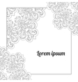 Invitation card template with lace vector image