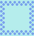 snowflake frame 2811 vector image