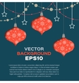 abstract background with christmas toys vector image vector image