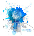 Abstract Watercolor art hand paint background with vector image vector image