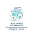 aggressive and impulsive behaviors concept icon