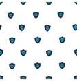Aliens Protection Shield Flat Seamless vector image