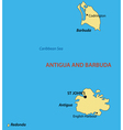 Antigua and Barbuda - map vector image