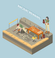 archeology isometric concept vector image vector image
