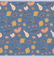 autumn seamless pattern falling leaves apples vector image vector image