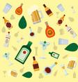 bar drinks pattern background vector image vector image