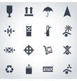 black marking of cargo icon set vector image vector image