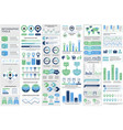 bundle business infographic elements vector image