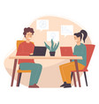 business meeting partners or colleagues at work vector image vector image