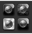 Camera apps icon set vector image