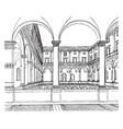 cancellaria palace distinctive feature of italian vector image vector image