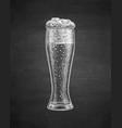 chalk sketch of beer glass vector image vector image
