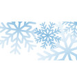 christmas winter background christmas snowflakes vector image