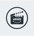 cinema award clapperboard vector image vector image