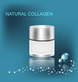 collagen solution jar with cream vector image