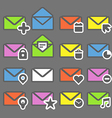 Collection of color mailing web icons vector image vector image