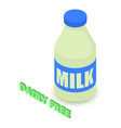dairy allergen free icon isometric style vector image