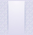 decorative background with snowflakes vector image vector image