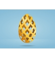 Decorative golden egg vector image vector image