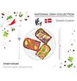 denmark cuisine european national dish collection vector image vector image