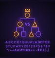 double-elimination tournament neon light icon vector image vector image