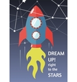 dream up to the stars vector image vector image