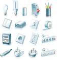 electrical supplies icon set vector image
