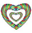 Enamel heart vector image vector image