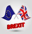 flag eu european union UK united kingdom brexit vector image