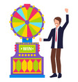 gambling entertainment casino wheel luck vector image vector image