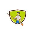 Gardener Hedge Trimmer Crest Cartoon vector image vector image